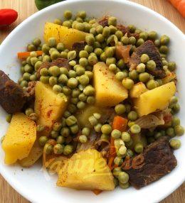 Mijoté de pommes de terre et petits pois